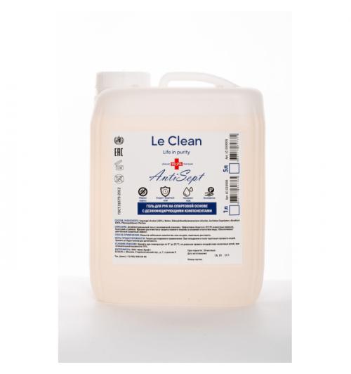 Гель на спиртовой основе Le Clean Antisept 5000мл