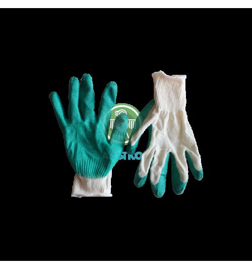 Перчатки ХБ с одинарным обливом